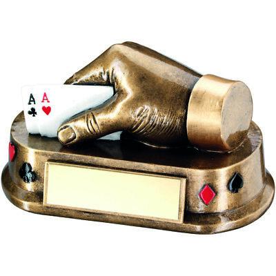 Élégant cartes Trophée Main /& 2 Aces Poker Magie Rummy Award-Gravure Gratuite