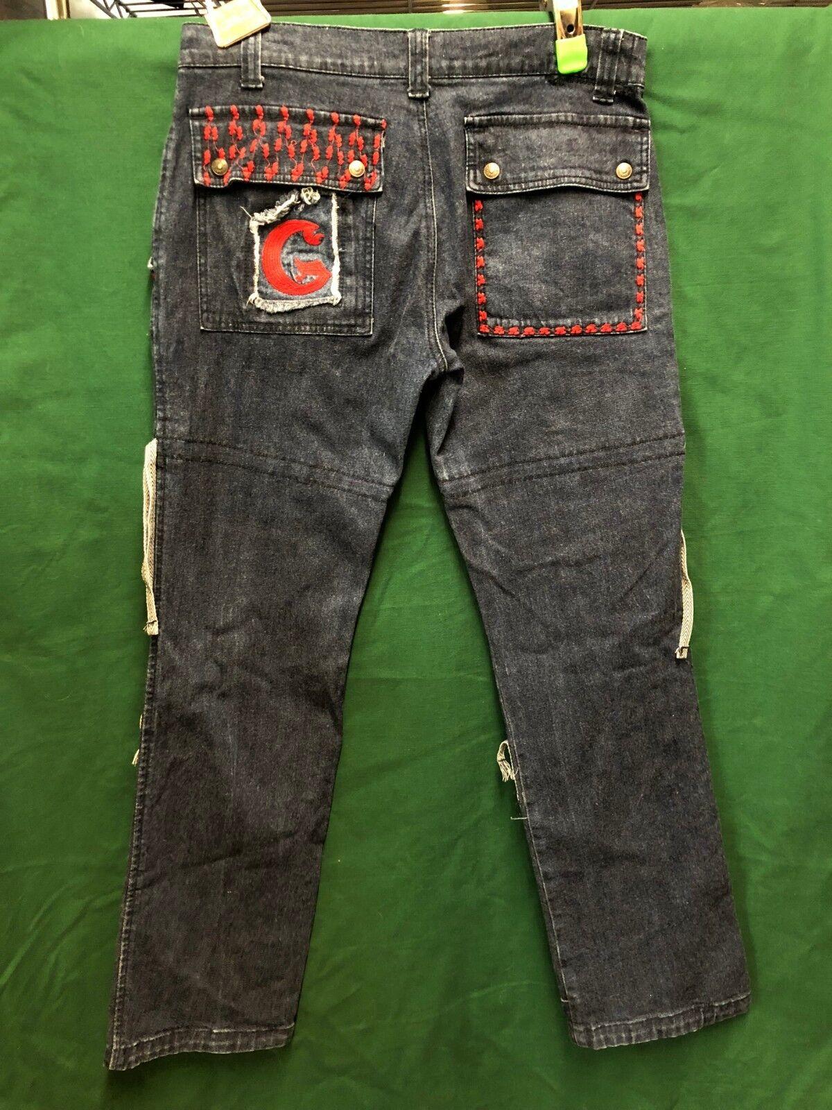 Marithe Francois Girbaud  VINTAGE Hip Hop CARGO Jeans Size 31 OR 33 X 33.5