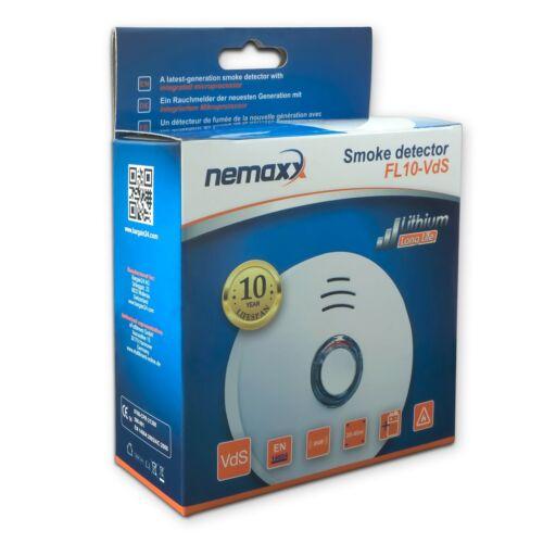 10x Nemaxx VDS 10 ans lithium batterie détecteur de fumée Set warnmelder incendie