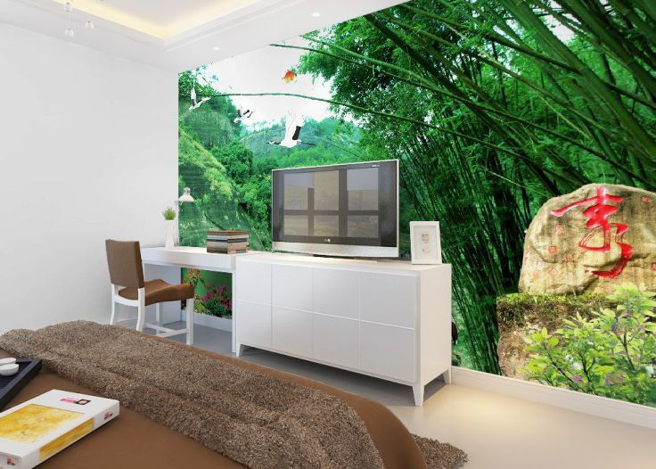 3D Bamboo Tablet Paper Wall Print Wall Decal Wall Deco Indoor Murals Wall