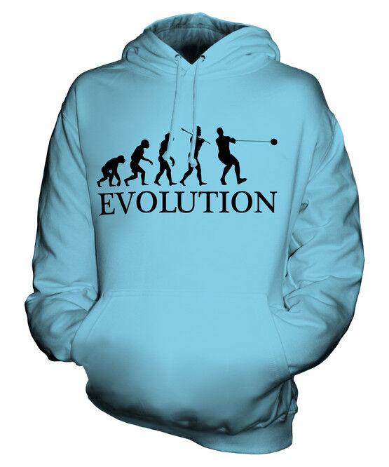 HAMMER THROW EVOLUTION OF MAN UNISEX HOODIE  Herren Damenschuhe LADIES GIFT ATHLETICS