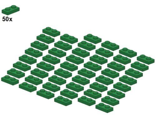 3023-06 Green - Platte LEGO® Plates 1x2 Grün 50Stk