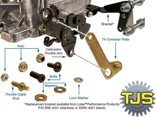 ,for GM//Ford Kickdown TV Cable Corrector Kit for Edelbrock//Carter Carbs AS5-05K
