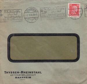MANNHEIM-Briefumschlag-1928-Thyssen-039-sche-Handelsgesellschaft-mbH