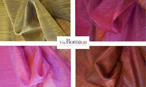 Tessuto per tende e tendaggi via roma organza fucsia viola