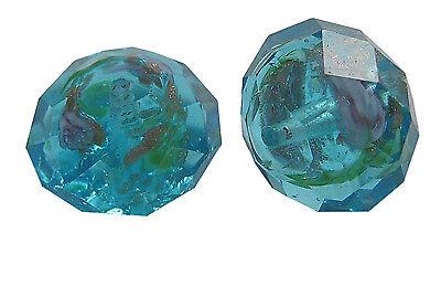 2018 goldsand perles de verre perles à facettes Boulier Fleur Emeraude 12 mm 10 pcs
