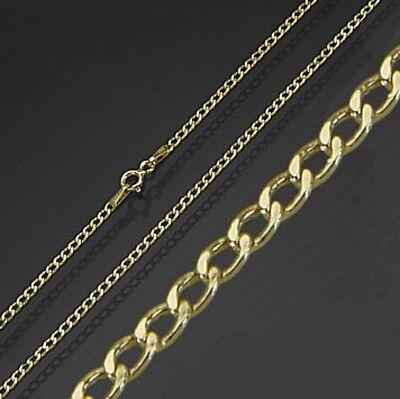 Kette 333 Gold 40 42 45 cm 1,1 mm Panzerkette Damen Herren Kinder Goldkette Neu