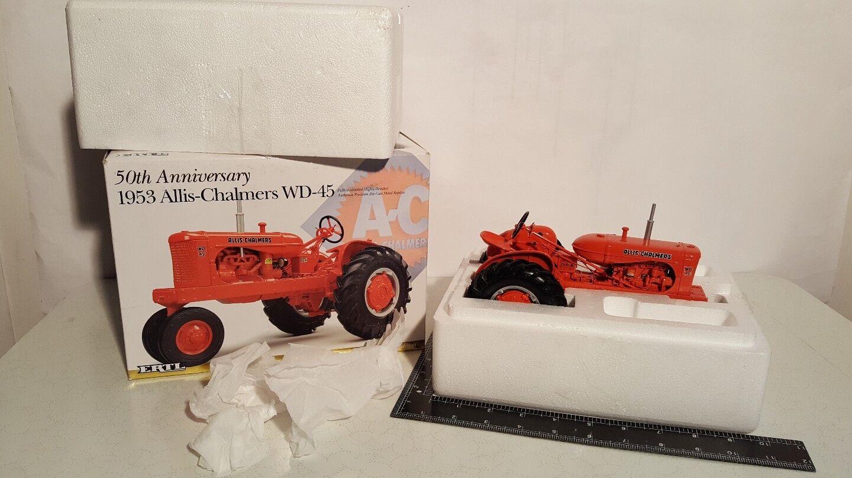 Ertl Allis Chalmers WD45 1 16 Diecast Metal Tractor de Granja réplica Coleccionable