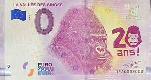 BILLET-0-EURO-LA-VALLEE-DES-SINGES-FRANCE-2018-NUMERO-2000