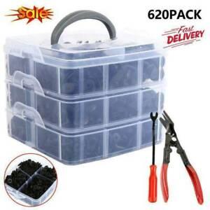 620Pcs-Set-Car-Retainer-Plastic-Fasteners-Push-Trim-Rivet-Kits-Bumper-Clips-Y5L0