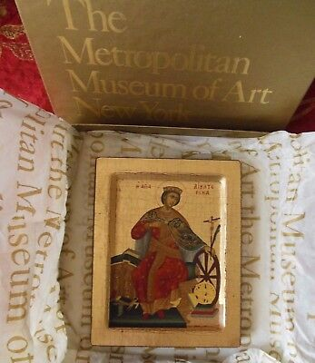 Collectible Byzantine Icon St. Catherine Victor Athens Metropolitan Museum Art