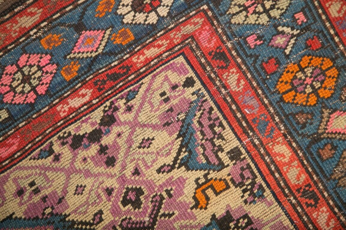 Pre-1900 Vegetable Dye Antique 5x16 Karabakh Boteh Russian Oriental WIDE WIDE WIDE RUNNER b9c0ce