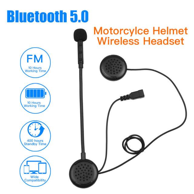 M1S Motorcycle Wireless Blue-tooth Intercom Helmet Headset Handsfree Mic FM Call