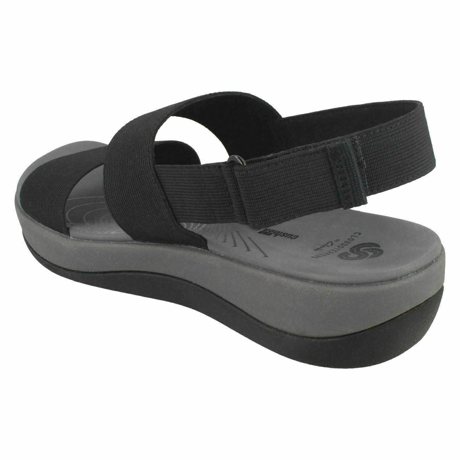 26b8532adbc6 Clarks Womens Arla Jacory Black and White Cloudsteppers Double Slingback  Sandals UK 5.5 for sale online