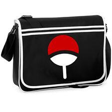 Naruto Uchiha Clan Symbol College Messenger Shoulder Bag Anime Manga Cosplay