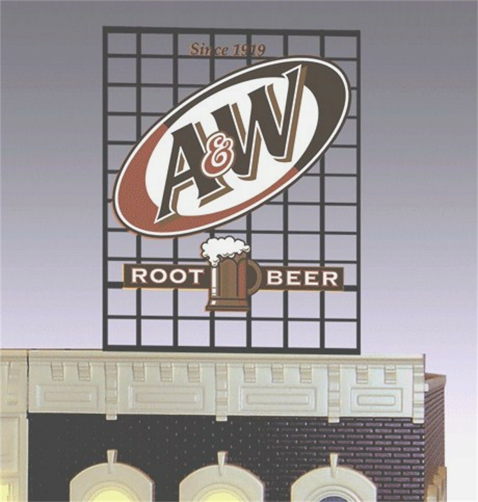 Miller's A&W Rootbeer Animated Neon Sign O Scale Miller Engineering
