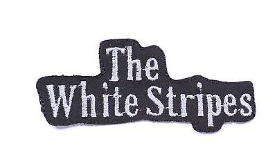 heavy metal music iron on sew on embroidered patches badges The white stripes
