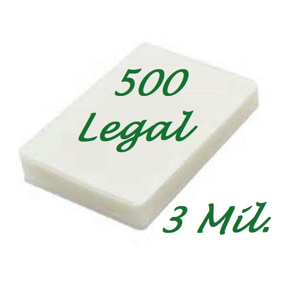 500 Legal 3 Mil Laminating Pouches Laminator Sheets 9 x 14-1 2 Scotch Quality