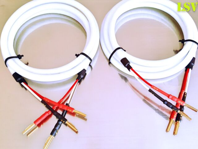 NEW Chord Clearway AUDIO SPEAKER CABLES 2 x 1m (A Pair) Terminated