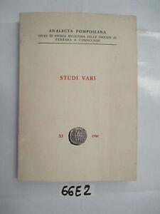 ANALECTA-POMPOSIANA-STUDI-VARI-VOL-XI-DEL-1986-66E2