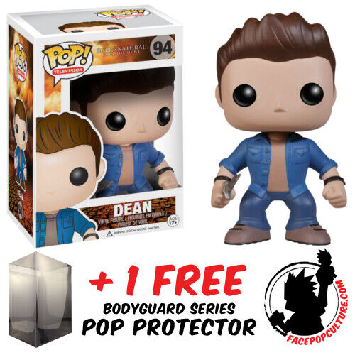 FUNKO POP SUPERNATURAL DEAN #94 VINYL FIGURE + FREE POP PROTECTOR