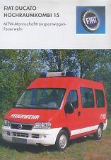 Fiat Ducato MTW Feuerwehr Prospekt 2003 car brochure Nutzfahrzeuge LKWs Italien