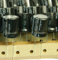 (3pcs) 220uf 100v Electrolytic Capacitors 100v220uf Nichicon He Low Esr Japan