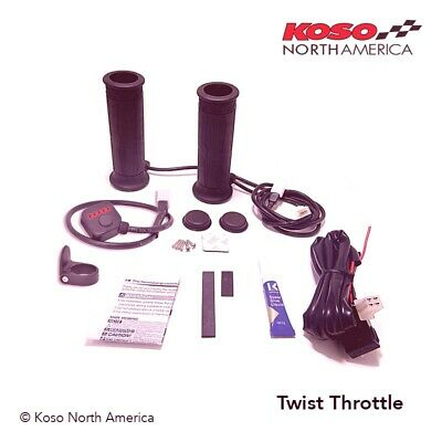 Heated Grips for Thumb Throttle w//o Thumb Pad` Koso North America AM11004A