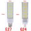 5050SMD-5W-7W-9W-11W-13W-LED-Lugar-Maiz-Horizontal-Plug-Ligero-Downlight-E27-G24 miniatura 4