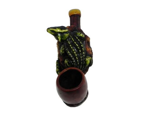 Alligator Handmade Tobacco Smoking Mini Hand Pipe Swamp Reptile Gator Animal Art