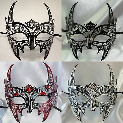 Skull Devil Couple Metal Crystal Mask High Fashion Top Quality Masquerade Ball