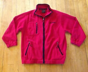 Vintage-90-039-s-Mens-Medium-FUBU-Classic-Red-Black-Fleece-Zip-Up-Jacket-Coat