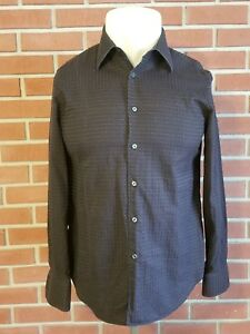 Corneliani-Trend-Long-Sleeve-Button-Front-Shirt-Mens-Size-16-41-Made-in-Italy