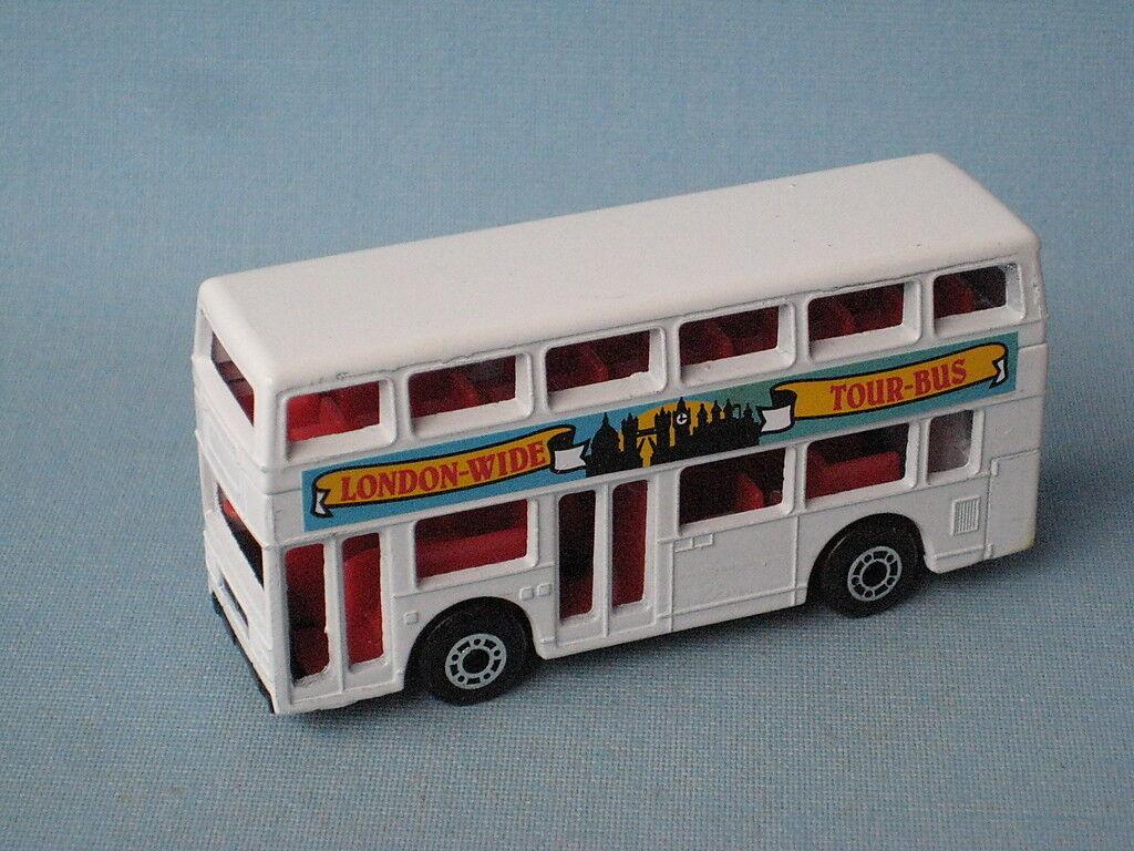 Matchbox MB-17 Titan Bus London Tour Bus White Body Pre Pro Trial Rare
