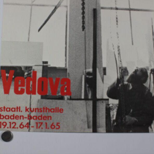 Vedova Emilio Informel Ausstellung Baden Baden 64/65 Plakat Poster Gruppo degli