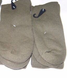 2-Pairs-Men-US-Made-Military-Issue-Anti-Fungal-USA-Made-Boot-Socks-GREEN-10-13