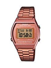 CASIO Uhr Unisex digital, Resingehäuse, Edelstahlband PVD rosé, B640WC-5AEF