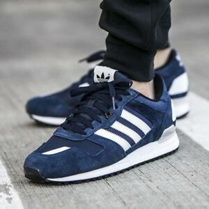 uk availability d3252 cefe8 Image is loading ADIDAS-MENS-ORIGINALS-ZX-700-SUPERSTAR-BLUE-SHOES-
