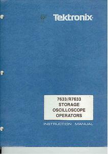 tektronix 7633 r7633 storage oscilloscope operators manual loc tek rh ebay ie Tektronix Manuals PDF tektronix 7633 service manual