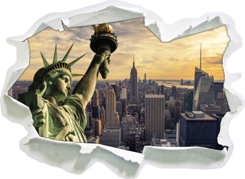 3d look papel murales pegatinas-sticker Estatua de la libertad de nueva york
