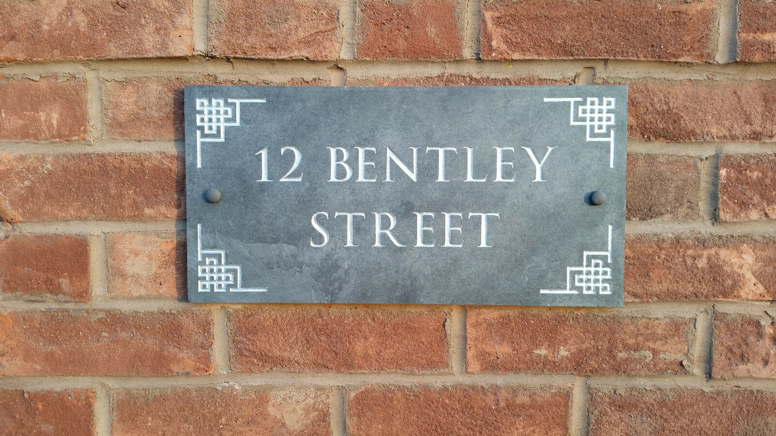 Natural Slate 12 x 8  House Sign  Number Plaque Quality Deep Carved Personalised