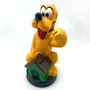 Vintage-Disney-Pluto-Plastic-Dog-House-Coin-Bank-Movable-Arm-Animal-Toys-Plus