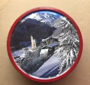 Details About Vintage Danish Butter Cookies Holiday Christmas Pattern Metal Tin Empty Box