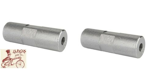 """BLACK OPS KNURLED PRO SILVER 3//8/"""" AXLE BICYCLE PEGS--ONE PAIR"""