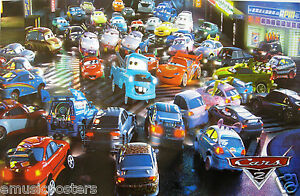 Lightning Mcqueen Characters >> Details About Disney Cars Mexican Poster Characters In Cast Around Mater Lightning Mcqueen