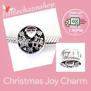 New-Authentic-Genuine-PANDORA-Silver-Christmas-Joy-Charm-796364CZ-RETIRED
