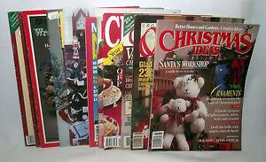 Christmas-Cross-Stitch-Quick-Easy-Lot-McCalls-Holiday-Magazines-Craft-Needlework