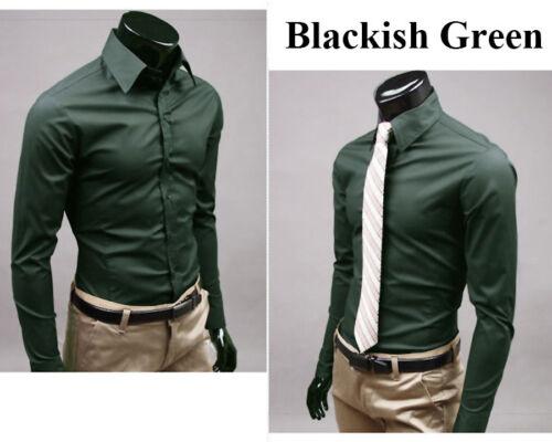 Stylish Men/'s Slim Fit Business Shirt Long Sleeve Dress Shirts Casual Cotton Top
