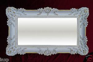 renaissance wandspiegel wei gold 96x57 spiegel wanddeko shabby chic retro design ebay. Black Bedroom Furniture Sets. Home Design Ideas