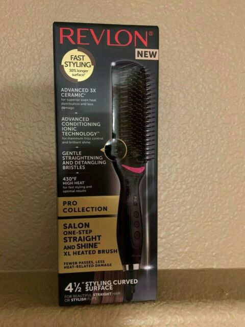 NEW Revlon Salon One Step Straight & Shine XL Heated Brush - Model RVST2168